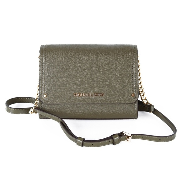 72a032939704 Michael Kors Bags | Hayes Small Convertible Clutch Olive | Poshmark